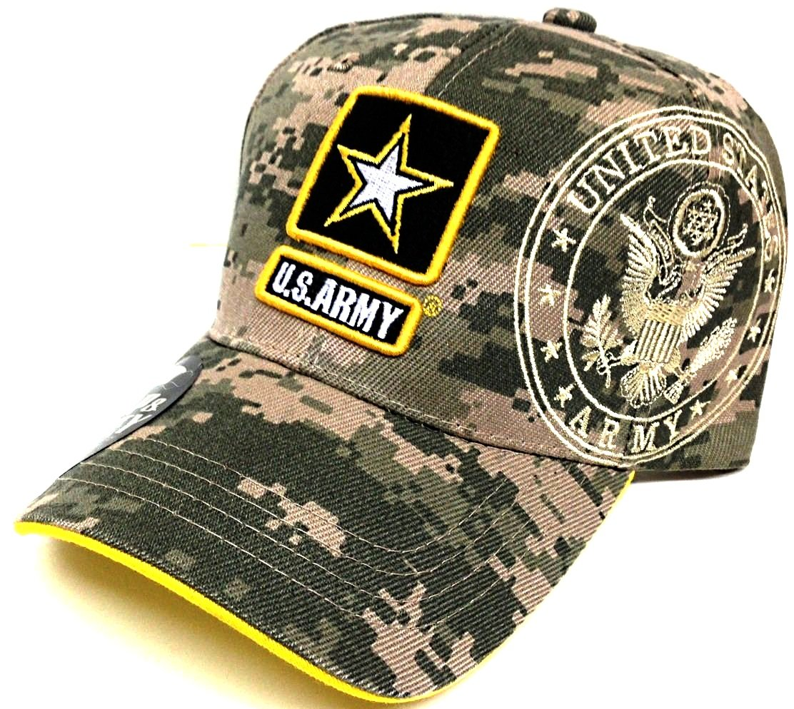 United States ARMY Strong US Digital Camo Camouflage Hat Cap Adjustable