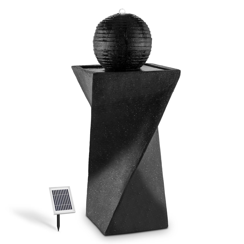 Blumfeldt Fontaine Solaire (socle De Basalte, Boule Déco, Lumière LED à  énergie Solaire, Batterie, Panneau Solaire 2 W, Surface Photovoltaïque De  300cm²): ...