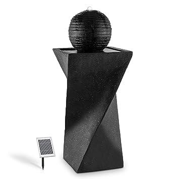 Blumfeldt Fontaine Solaire (Socle de Basalte, Boule déco, lumière ...