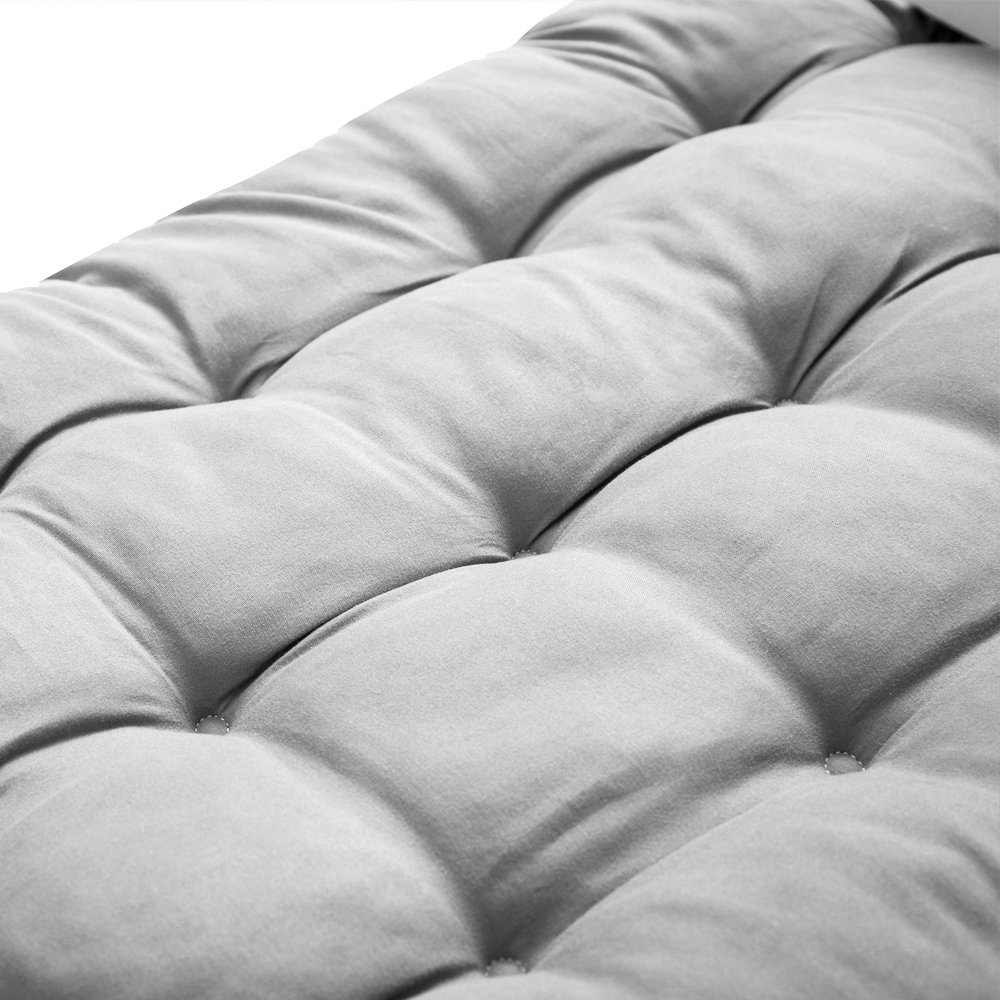 Solid Color Overstuffed Sun Lounger Mattress 60-Inch for Garden Outdoor//Indoor//Veranda NewSoul1us Chaise Lounge Cushions Recliner Chair Pads Black