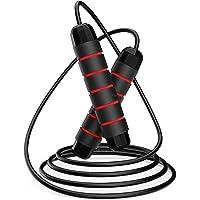 LOVEXIU Springtouw, springtouw, snelheidstouw, gewogen springtouwen kabel voor oefening verstelbare lengte met…