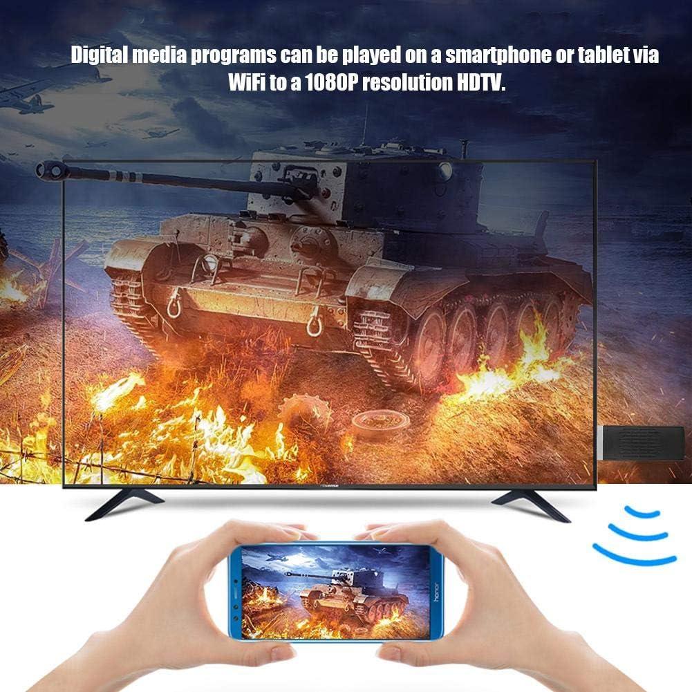 WiFi Airplay Dongle Bewinner WiFi Display Dongle Pantalla del tel/éfono m/óvil a HD 1080p HDMI Streamer Adaptador de Dongle de TV inal/ámbrico para Sistema iOS 8//Android//iOS Phone//iPad//Mac//Laptop