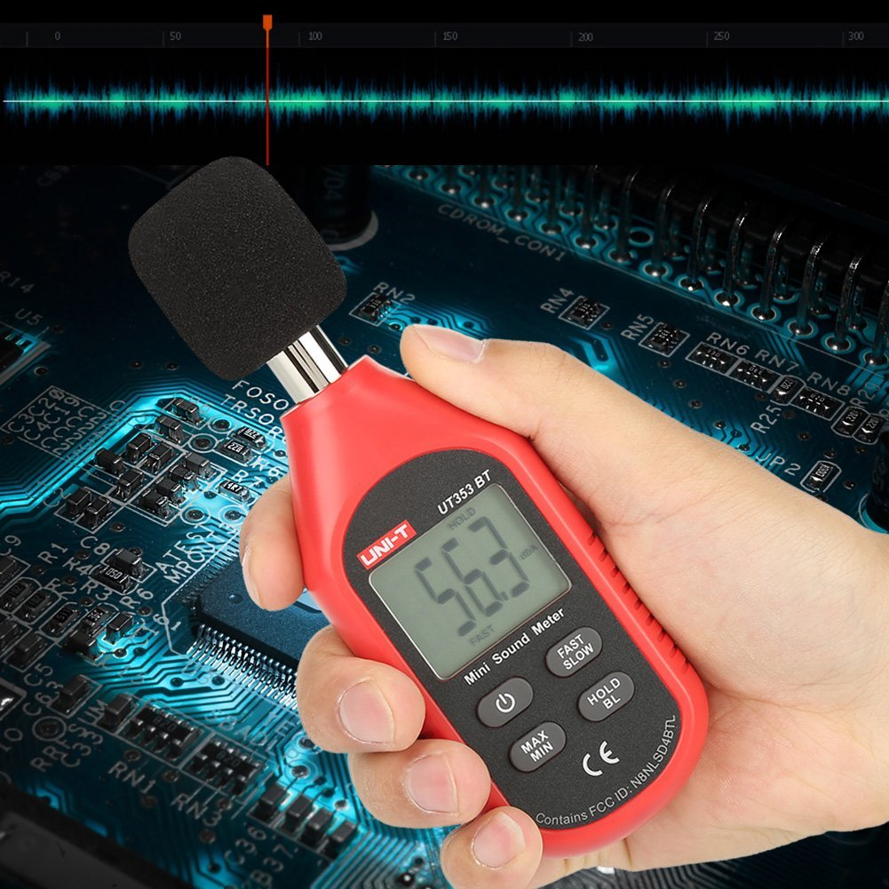 UNI-T UT353BT Sound Level Meter Digital Bluetooth Noise Meter Tester 30-130dB Monitoring Sound,with Bluetooth Function. by Hilitand (Image #7)