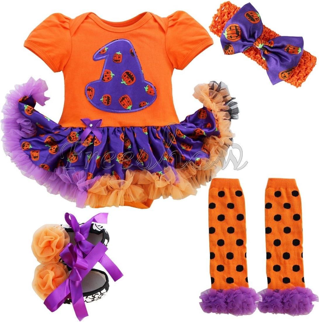 Barboteuse + Bandeau + Jambi/ères + Chaussures iEFiEL D/éguisement Halloween B/éb/é Fille Ensembles 0-9 Mois Couleur 1 0-3 mois