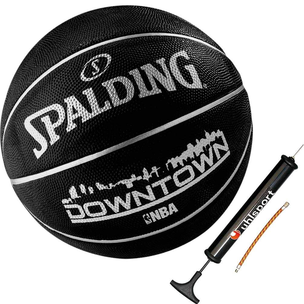 Spalding Ball Basketball NBA Outdoor Street Black schwarz Grö ß e 7 + Ballpumpe