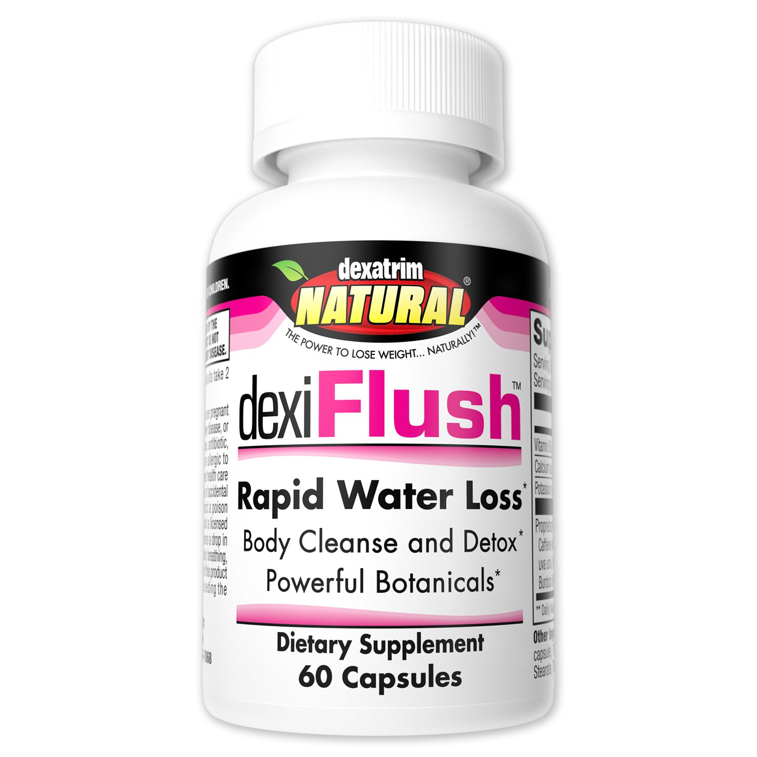 Amazon.com: Dexatrim Natural dexiFlush- Rapid Water Loss Pills | Dietary Supplement & Detox w/Herbal Blend and High Vitamin B6 for Men & Women (60-Count ...