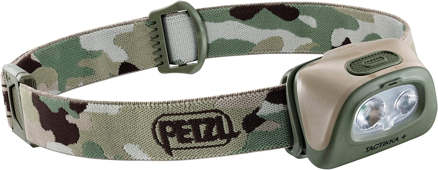 PETZL, TACTIKKA + Headlamp, 350 lumens, Ultra-Compact Headlamp, Camo : Sports & Outdoors