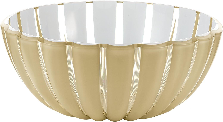 Insalatiera Ciotola Contenitore Grace Bicolore Bianco Trasparente 20 25 30 cm Guzzini 20 cm