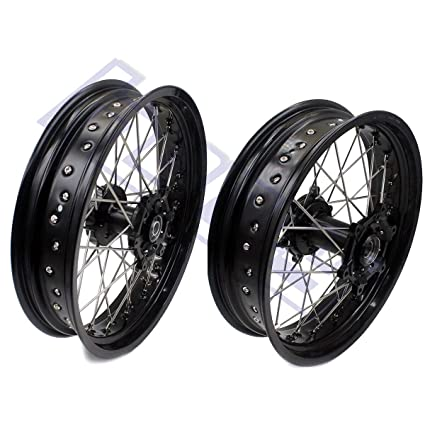 FidgetGear 3 5/4 5 Supermoto Wheels Set for Suzuki DRZ400