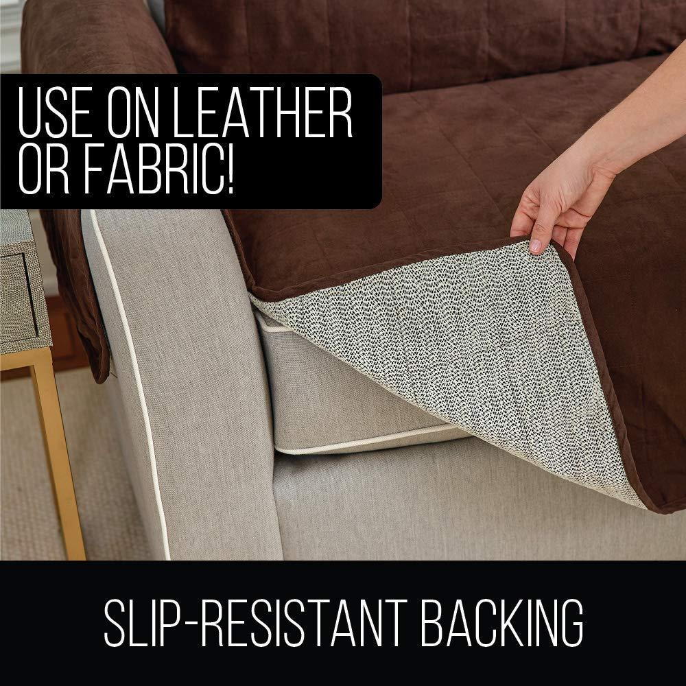 Gorilla Grip Original Slip Resistant Recliner Slipcover Protector Seat Width Up to 26 Inch SuedeLike