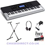 Casio CTK-4400 Deluxe Bundle With Foldable X-Keyboard Stand By Chase