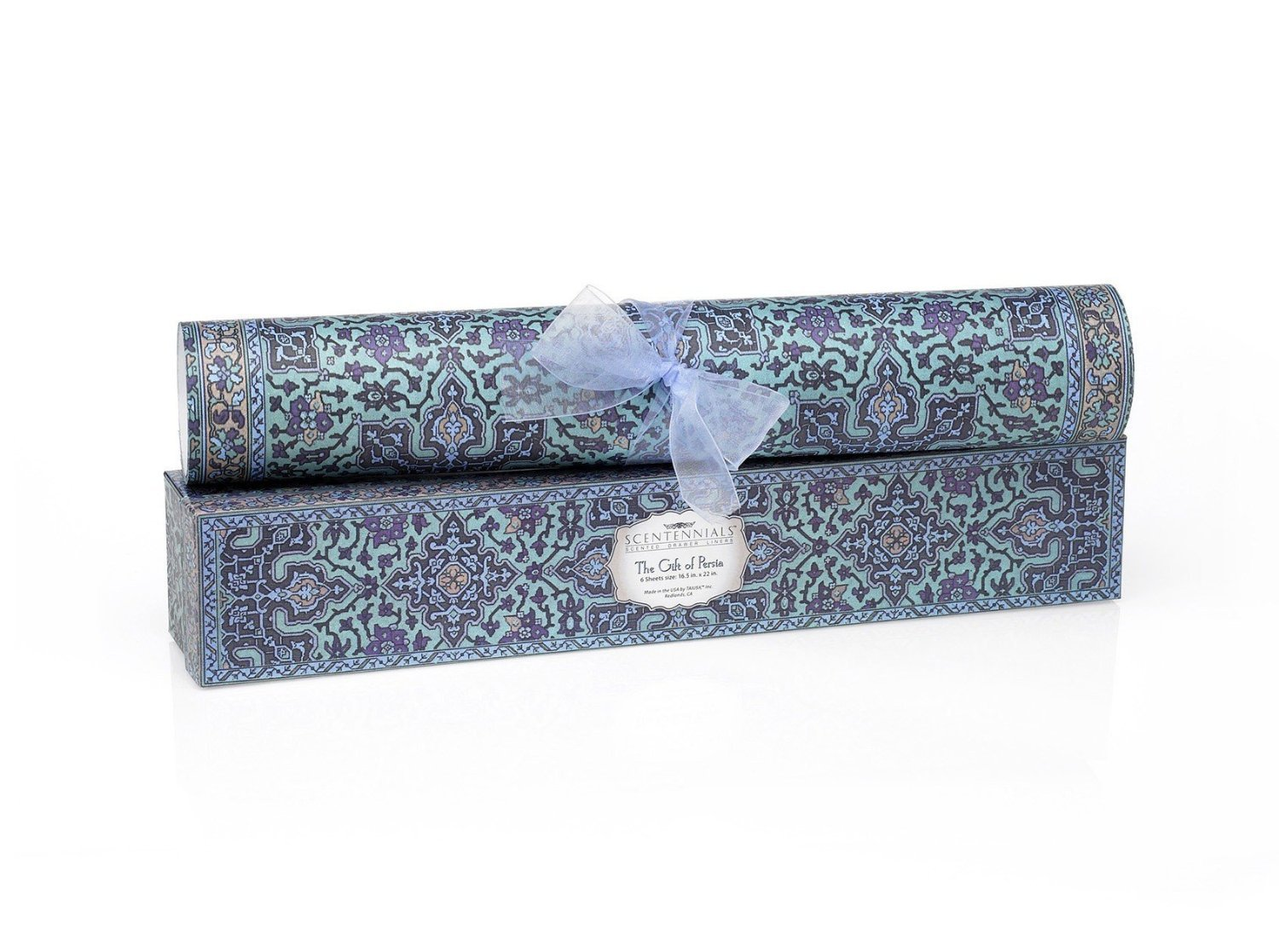 Scentennials GIFT OF PERSIA (6 SHEETS) Scented Fragrant Shelf & Drawer Liners 16.5'' x 22'' - Great for Dresser, Kitchen, Bathroom, Vanity & Linen Closet