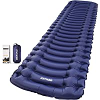 Equippt Ultralight Inflatable Sleeping Pad | Insulated Camping Tent Mattress Foldable Mat with Built-in Pump, Pillow and…