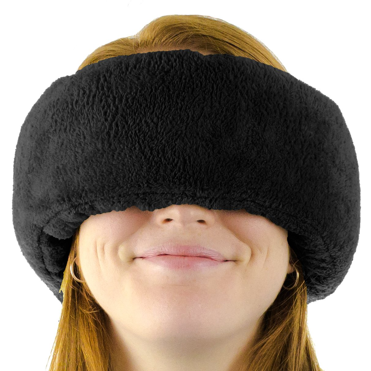 Wrap-a-NapTM Travel Pillow, Sleep Mask & Ear Muff. Adjustable Soft Fleece Neck and Head Pillow. Machine Washable. One-Size-Fits-All. by Wrap-a-NapTM
