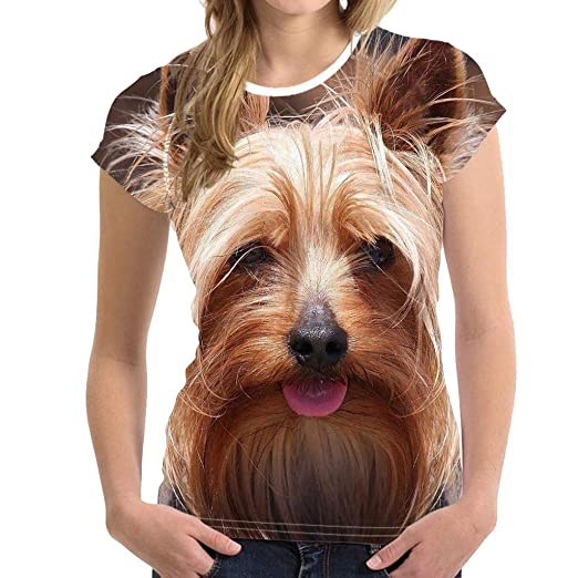 GridNN Unisex Funny 3D Print Animal Summer Short Sleeve T-Shirts Top Blouse