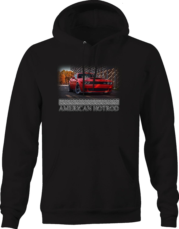 American Hotrod Challenger Racing Graphic Hoodie for Men