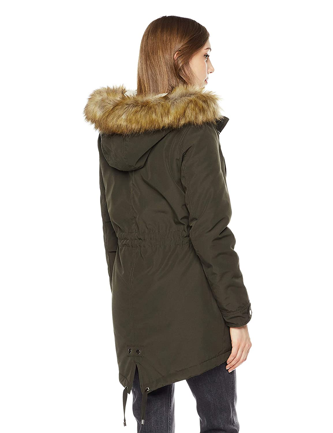 Royal Matrix Womens Mid Length Warm Winter Water-Resistant Sherpa Lined Parka Coat with Removable Faux Fur