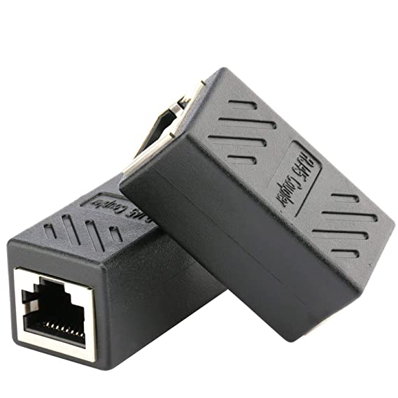Astounding Amazon Com Ethernet Rj45 Adapter Shielded In Line Coupler For Wiring Cloud Usnesfoxcilixyz