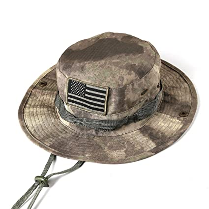 Image Unavailable. Image not available for. Color  massmall Military Tactical  Head Wear Boonie Hat Cap with USA Patch for Wargame ce1c2b30203b