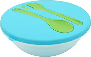 MORLIFE Salad Bowls with Spoon and Fork and cover (28cm diameter x 10cm height