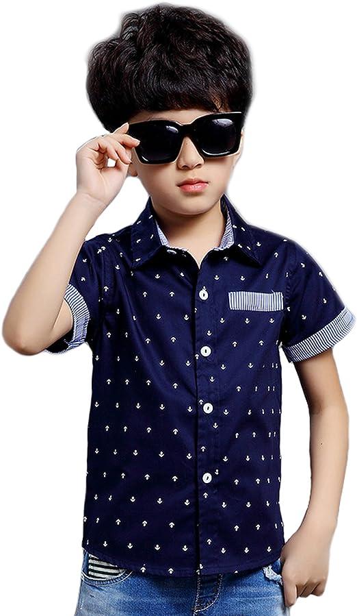 Es-uk Camisa - para niño Azul azul marino: Amazon.es: Ropa y accesorios