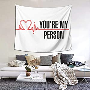 Tsugar Grey's Anatomy Tapestry Wall Hanging Bedroom Home Decor for Living Room 60 X 40 Inches