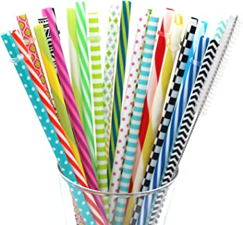 Besu Reusable Straw 25-Pack with Cleaning Brush