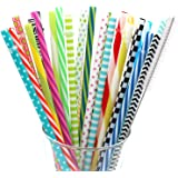 BESU 25 Pieces Reusable Straws Fit for 20 OZ 30 OZ Tumbler Mason Jar with Cleaning Brush(9 Inch)