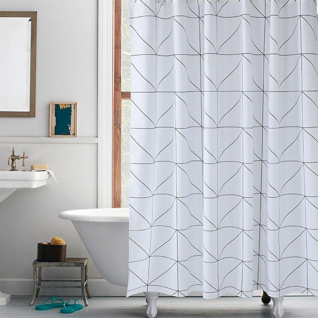 Curtain Bathroom Shower Curtain Waterproof Mildew Polyester Shower Curtain Shower Equipment (Size : 200200cm)