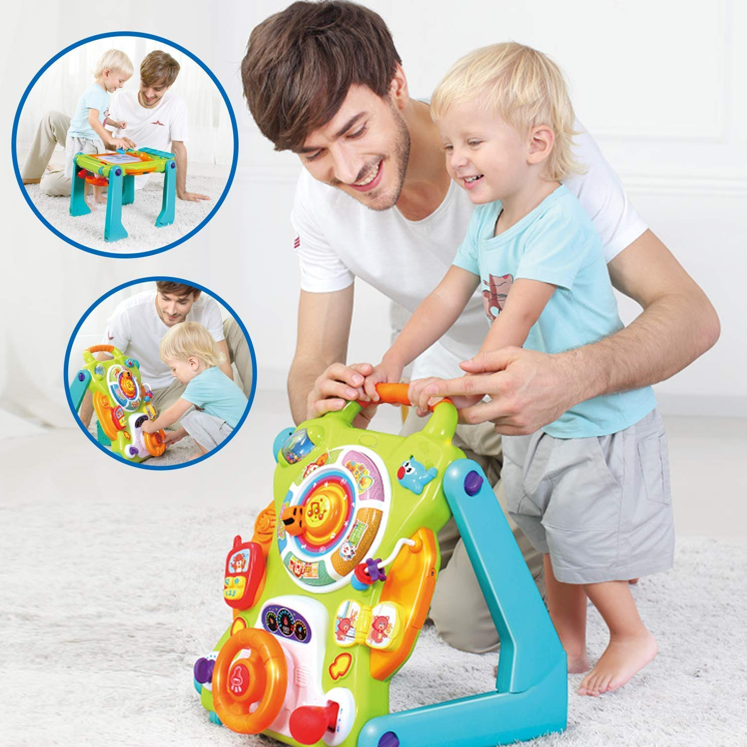 Baby Products New Blue Circle Car Walker Activity Toy/Musical/Fast Deliver Baby Rex