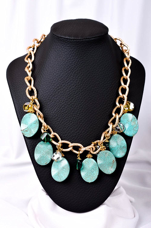 Amazon.com: Handmade Necklace Designer Necklace with Stones ...