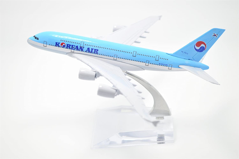 TANG DYNASTY 1:400 16cm Air Bus A380 Korean Air Metal Airplane Model Plane Toy Plane Model Tang Dynasty International TM