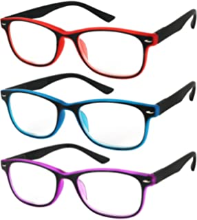 01b427c8d6 Reading Glasses Set of 3 Spring Hinge Comfort 3 Color Fashion Readers  Glasses for Reading Men