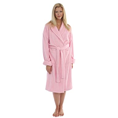 Ladies Luxury Pure Turkish Cotton Terry Toweling Dressing Gowns Wrap Robe   Amazon.co.uk  Clothing 7b554beee