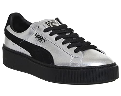 ccd145a55057 PUMA Shoes – Basket Platform ExplosiveWns Black Black Silver Size ...