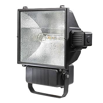 asSchwabe Profi Strahler 400W Schwarz Leuchte 400 Watt W Halogen Flutlicht außen