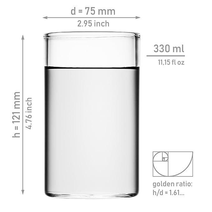 1fd83aa983bbaa GAIWAN Lot de 2 verres à eau de haute qualité, style « I » verres grands  pour thé, cocktails ou latte macchiatos (Icegold330, 0,33 l)  Amazon.fr   Cuisine   ...