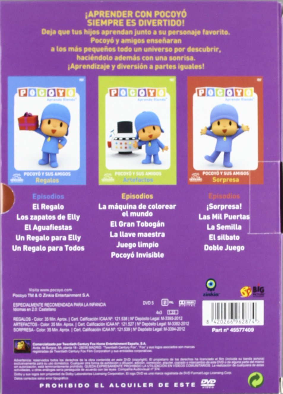 Pack Pocoyo (Regalos+Artefactos+Sorpresa) [DVD]: Amazon.es ...