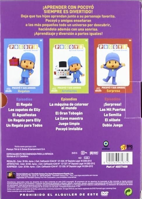 Pack Pocoyo (Regalos+Artefactos+Sorpresa) [DVD]: Amazon.es: Personajes animados, David Cantolla, Luis Gallego, Guillermo García: Cine y Series TV