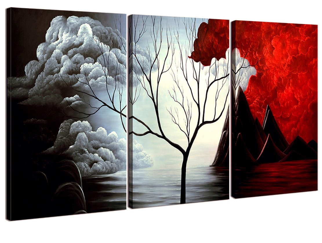 Charmant Amazon.com: Home Art   Abstract Art Giclee Canvas Prints Modern Art Framed  Canvas Wall Art For Home Decor Perfect 3 Panels Wall Decorations Abstract  ...