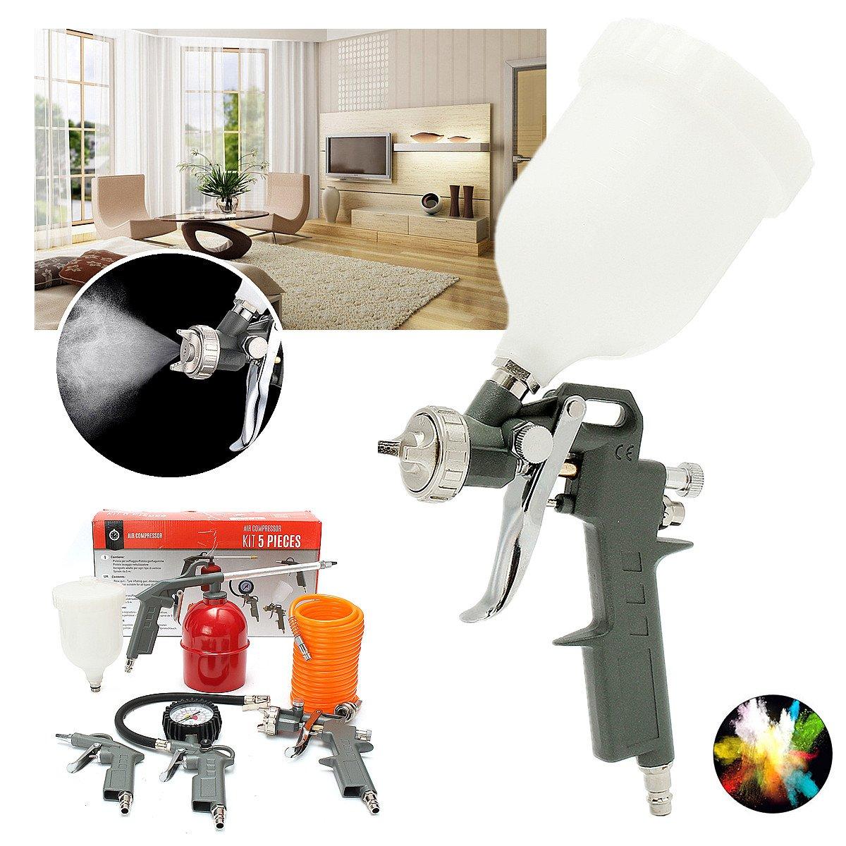 5pcs kit herramienta para accesorios 1/4inch pulverizadora pintura Compresor De Aire Manguera de aire Montaje: Amazon.es: Coche y moto
