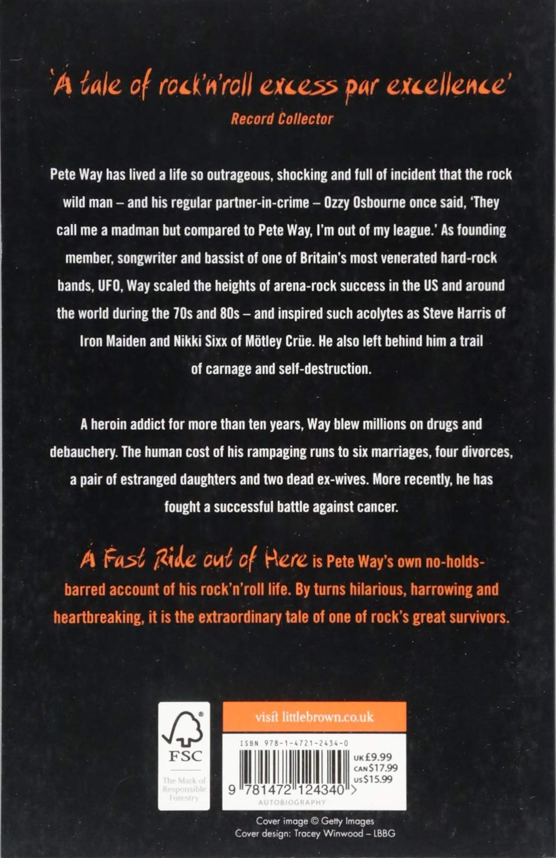 A Fast Ride Out of Here: Confessions of Rock's Most Dangerous Man:  Amazon.co.uk: Pete Way, Paul Rees: 9781472124340: Books