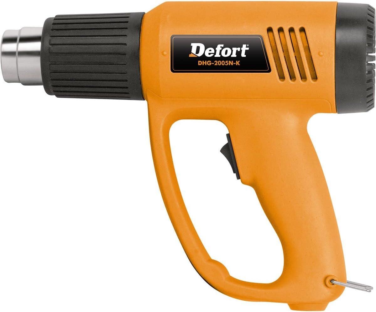 Defort DHG-2000N-K - Pistola de calor (900g) Negro, Naranja