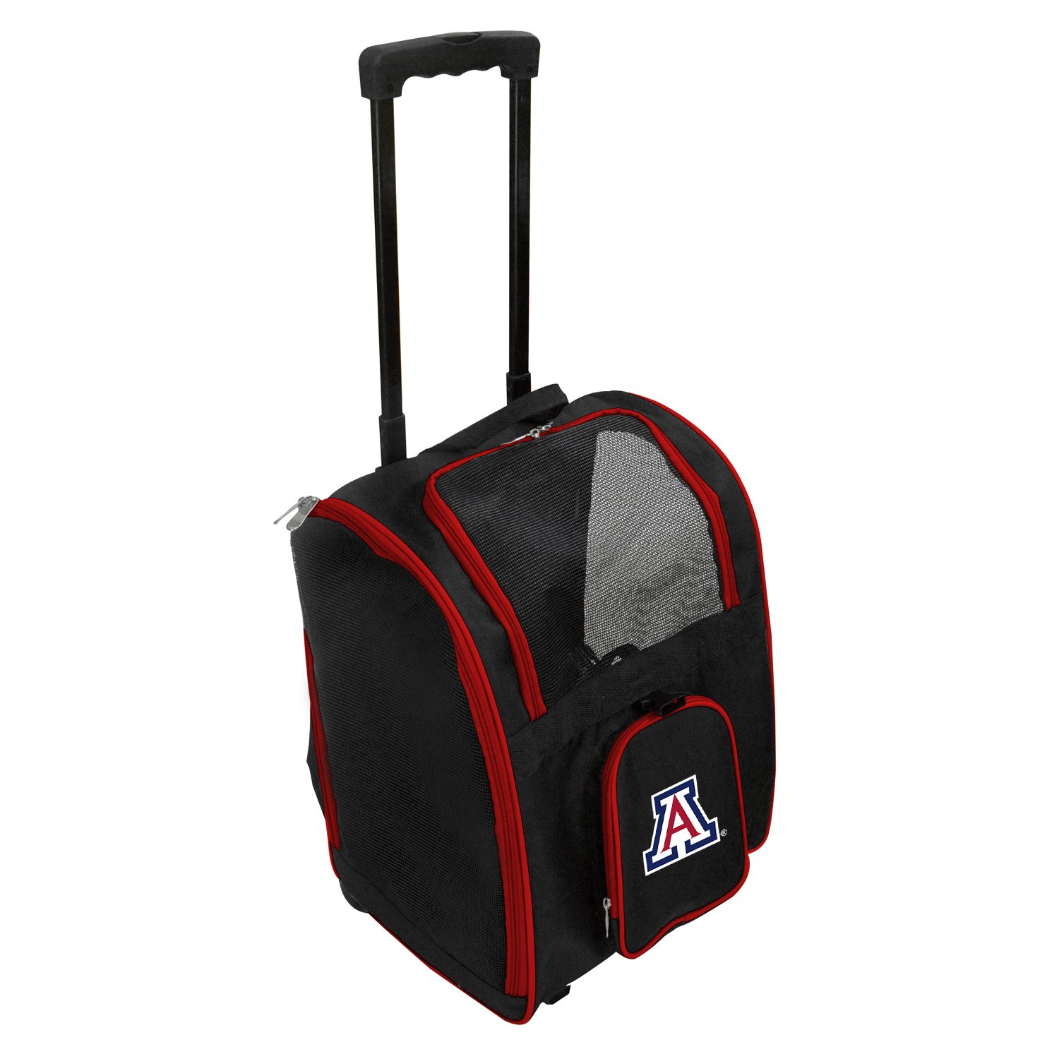 Denco NCAA Arizona Wildcats Premium Wheeled Pet Carrier