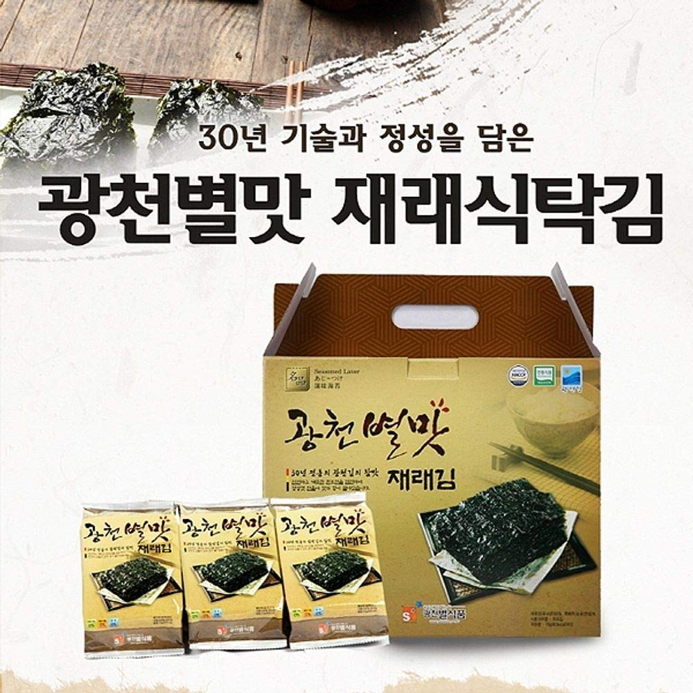 Gwangcheon Traditional Type Seaweed Lunch Pack size 15g x 12 packs by Star Food