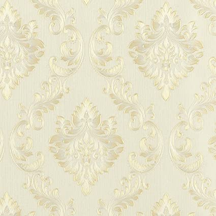 Wopeite European Vintage Luxury Damask Wallpaper Embossed Textured Paper Non Woven Home Decor For Living