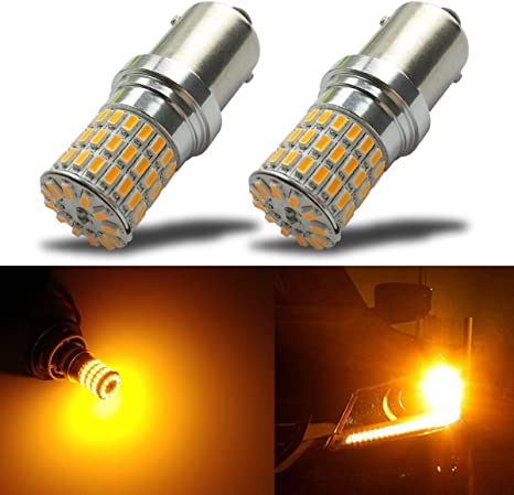 AK-3014 39 SMD Replacement Bulbs for Turn Signal Lights Tail Backup Bulbs AMAZENAR 2-Pack 1156 BA15S 1141 1003 7506 1073 Extremely Bright Amber//Yellow LED Light 9-30V-DC