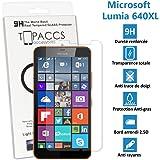 TOPACCS - Microsoft Lumia640 XL - Véritable vitre de protection écran en Verre trempé ultra résistante - Protection écran pour Microsoft Lumia 640XL