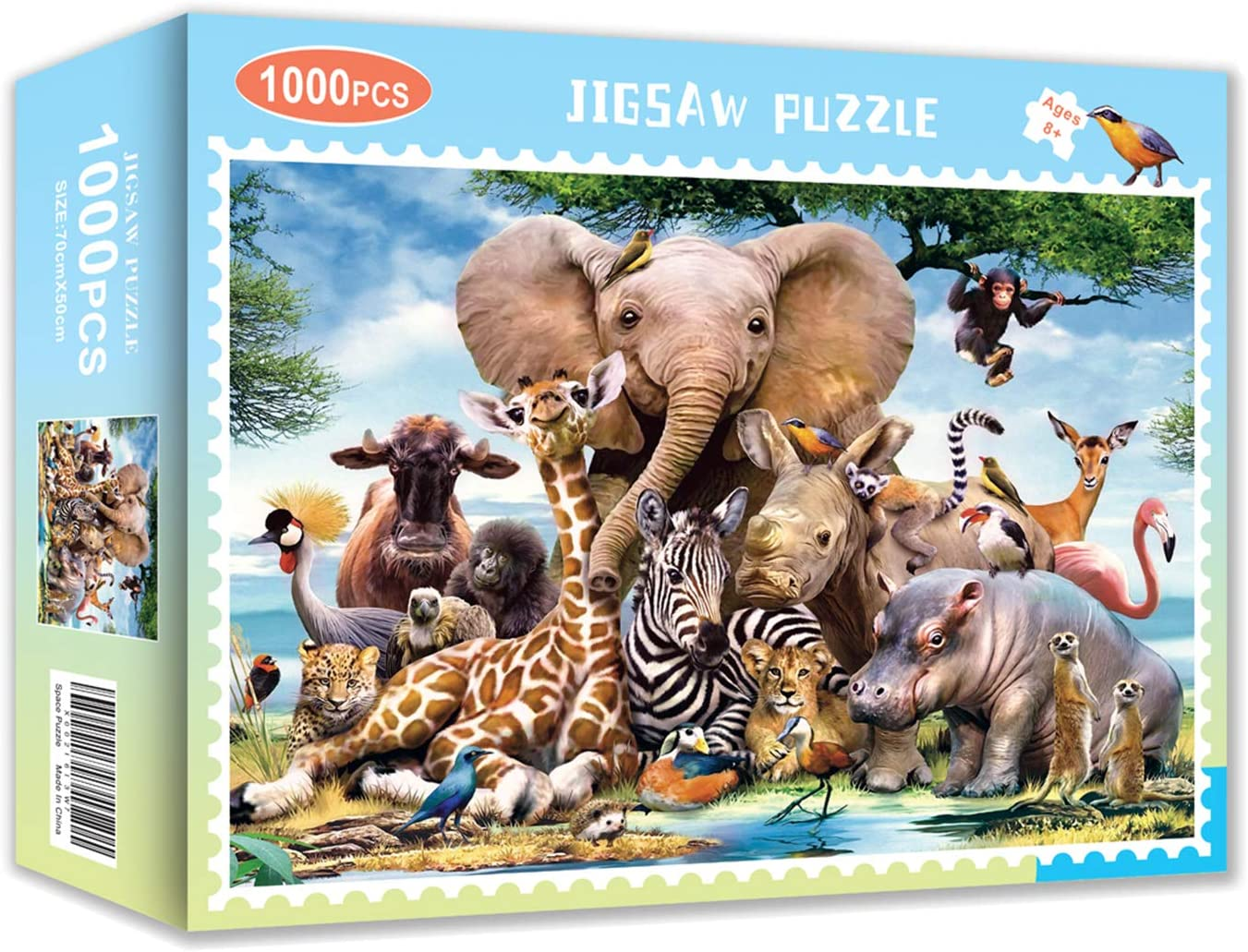 Animal World Puzzle 1000 Piece Jigsaw Puzzle – ...