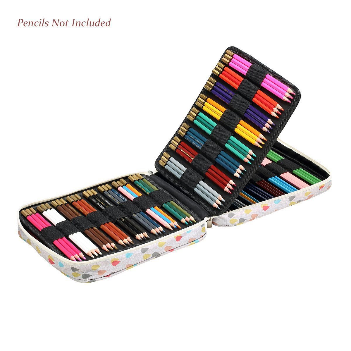 Nrpfell 150 Slots Colored Pencils Universal Pencil Bag Pen Case School Stationery PencilCase Drawing Painting Storage Pouch Pencil Box by Nrpfell (Image #5)